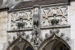 Элементы архитектуры замка и церковь эклектичного Vajdahunyad Стоковое фото RF
