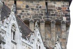 Элементы архитектуры замка и церковь эклектичного Vajdahunyad Стоковая Фотография RF