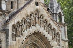 Элементы архитектуры замка и церковь эклектичного Vajdahunyad Стоковое Изображение
