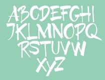 элементы алфавита scrapbooking вектор вычерченные письма руки иллюстрация штока