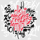 элементы алфавита scrapbooking вектор вычерченные письма руки бесплатная иллюстрация