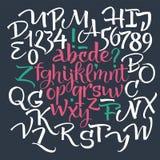 элементы алфавита scrapbooking вектор Стоковое Изображение RF