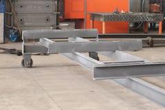 Элементы вагонеток перехода для moving материала Стоковое Фото
