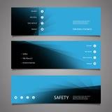 Элементы веб-дизайна - абстрактные голубые дизайны заголовка Стоковые Изображения RF