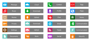 Элементы веб-дизайна, кнопки, значки. Шаблоны для вебсайта стоковые фото