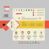Элементы веб-дизайна. Шаблоны для вебсайта. Стоковое Изображение