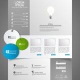 Элементы веб-дизайна. Шаблоны для вебсайта. Стоковые Изображения