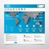 Элементы веб-дизайна. Шаблоны для вебсайта. Стоковое Изображение RF