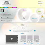 Элементы веб-дизайна. Шаблоны для вебсайта. Стоковые Фотографии RF