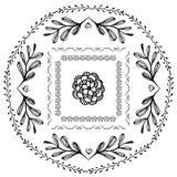 Элементы вектора нарисованные вручную Стоковые Фото