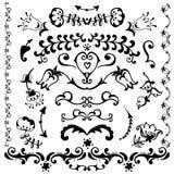 Элементы вектора нарисованные рукой декоративные Стоковая Фотография RF