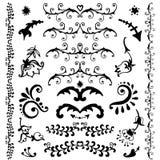 Элементы вектора нарисованные рукой декоративные Стоковое Изображение