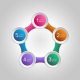 Элементы вектора infographics для дела Постепенное proce Стоковое Изображение