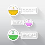 Элементы вектора infographics для дела Элемент и текст Стоковое Фото