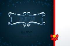 Элементы винтажного вектора декоративные в стиле зимы Комплект рамок нарисованных рукой с снегом, сосулек в квартире Значки для к Стоковое Фото