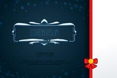 Элементы винтажного вектора декоративные в стиле зимы Комплект рамок нарисованных рукой с снегом, сосулек в квартире Значки для к Стоковая Фотография