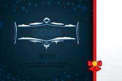 Элементы винтажного вектора декоративные в стиле зимы Комплект рамок нарисованных рукой с снегом, сосулек в квартире Значки для к Стоковая Фотография RF