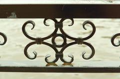 Элементы вковки, чугунная загородка стоковое фото rf