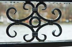 Элементы вковки, чугунная загородка стоковые изображения rf