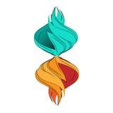 Элементы воды и огня Стоковая Фотография
