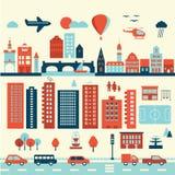 Элементы города современные старые Стоковое Изображение RF