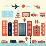 Элементы города современные Стоковое Фото