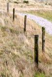 Элементы загородки на пляже, северной Голландии Стоковое Фото