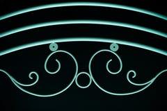 Элементы зеленой загородки орнаментальные на черной предпосылке Стоковые Фотографии RF
