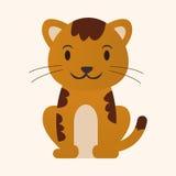 Элементы значка животного кота плоские, eps10 бесплатная иллюстрация