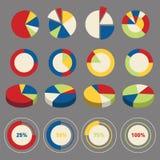 Элементы диаграммы круга Infographic Стоковые Фото