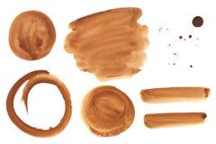 Элементы дизайна акварели коричневые дополнительные Стоковые Фотографии RF
