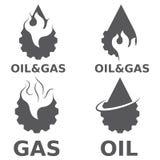 элементы дизайна вектора газовой промышленности Стоковое Фото