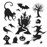 Элементы дизайна вектора хеллоуина Стоковая Фотография RF