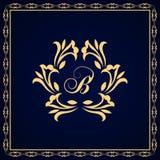 Элементы дизайна вензеля, грациозно шаблон Каллиграфическая элегантная линия дизайн логотипа искусства иллюстрация штока