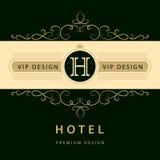 Элементы дизайна вензеля, грациозно шаблон Элегантная линия дизайн логотипа искусства Знак дела, идентичность для ресторана, коро бесплатная иллюстрация