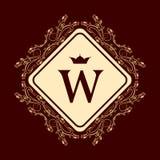 Элементы дизайна вензеля, грациозно шаблон Элегантная линия дизайн логотипа искусства письмо w Знак дела, идентичность для рестор бесплатная иллюстрация
