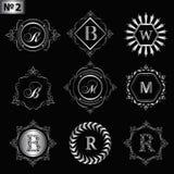 Элементы дизайна вензеля, грациозно шаблон Элегантная линия дизайн логотипа искусства Серебряная идентичность знака дела для рест иллюстрация вектора