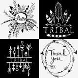 Элементы дизайна в племенном стиле Стоковое Изображение RF