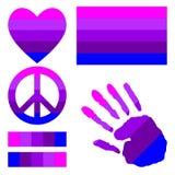 Элементы дизайна гордости трансгендерного Стоковая Фотография RF