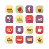 Элементы дизайна еды Стоковое Изображение