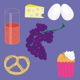 Элементы дизайна еды бесплатная иллюстрация