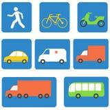 Элементы дизайна значков транспорта вектор Стоковая Фотография