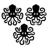 Элементы дизайна осьминога Стоковые Изображения RF