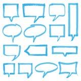 Элементы дизайна пузырей речи Highlighter Стоковые Фото
