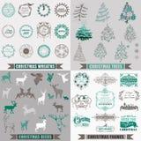 Элементы дизайна рождества каллиграфические бесплатная иллюстрация