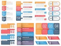 Элементы дизайна с номерами и текстом бесплатная иллюстрация