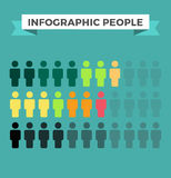 Элементы дизайна человеческих значков вектора infographic бесплатная иллюстрация
