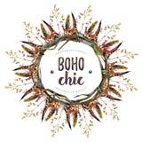 Элементы дизайна Boho акварели шикарные иллюстрация штока