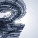 Элементы изогнутые синью Стоковые Изображения RF