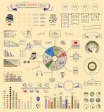 Элементы и значки Infographics Стоковые Изображения RF